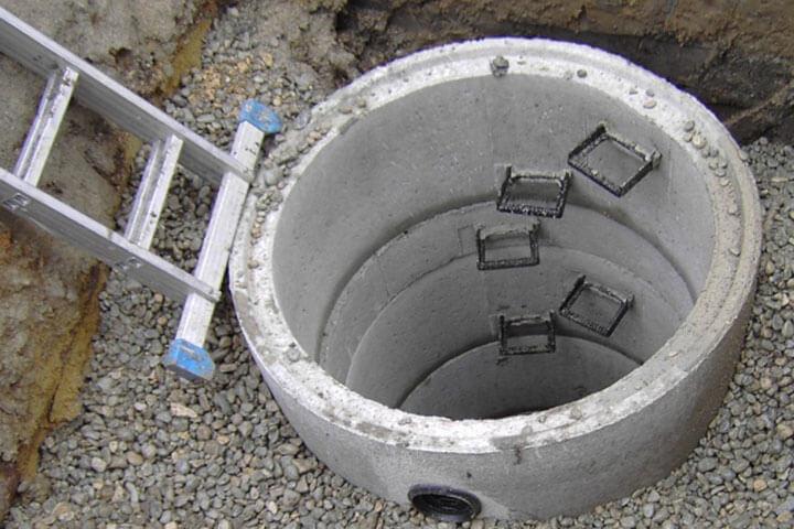 Betonringe als Wasserspeicher