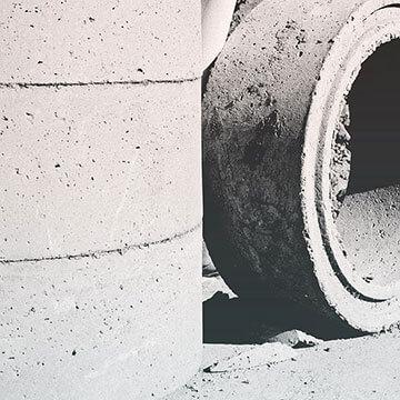 Verfugung der Betonringe